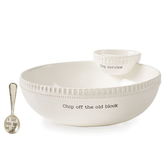 Chip Off the Old Block Stacked Chip & Dip Set by Mudpie