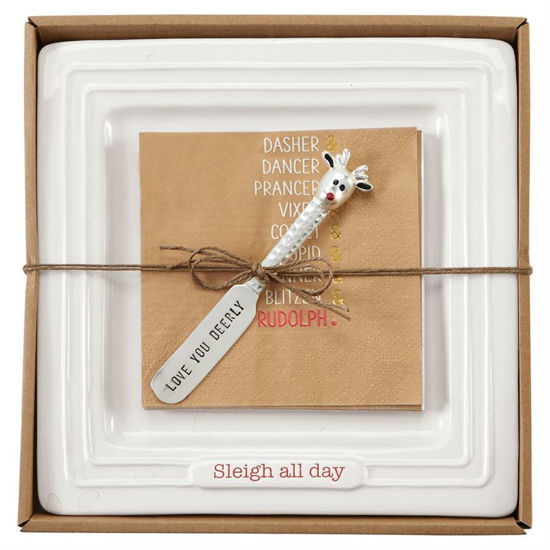 Sleigh All Day Cheese Set by Mudpie
