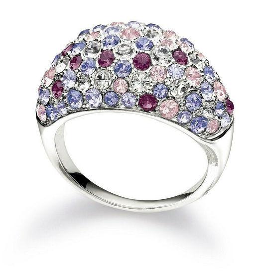 Jeweled Kaleidoscope Purple Ring Size 7, Crystal by Chamilia
