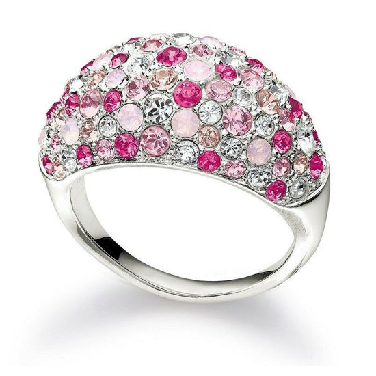 Jeweled Kaleidoscope Pink Ring Size 7, Crystal by Chamilia