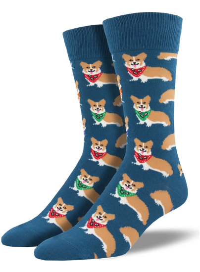 Corgi Men's Crew Socks by Socksmith