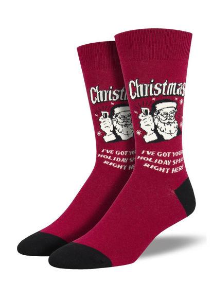 Christmas Spirit Men's Crew Socks by Socksmith