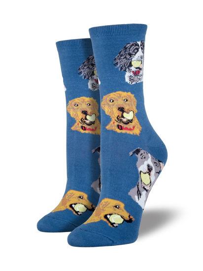 Ball Dog Women's Crew Socks by Socksmith