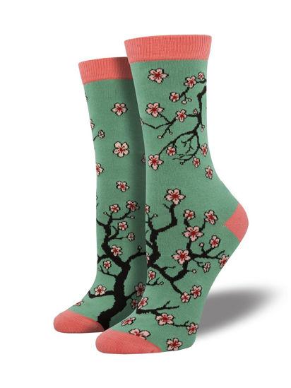 Bamboo Cherry Blossoms Women's Crew Socks by Socksmith