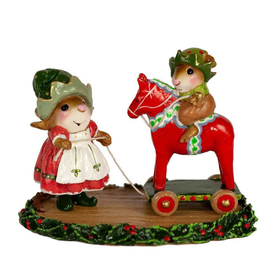 Dala Horse Elves  M-682 by Wee Forest Folk