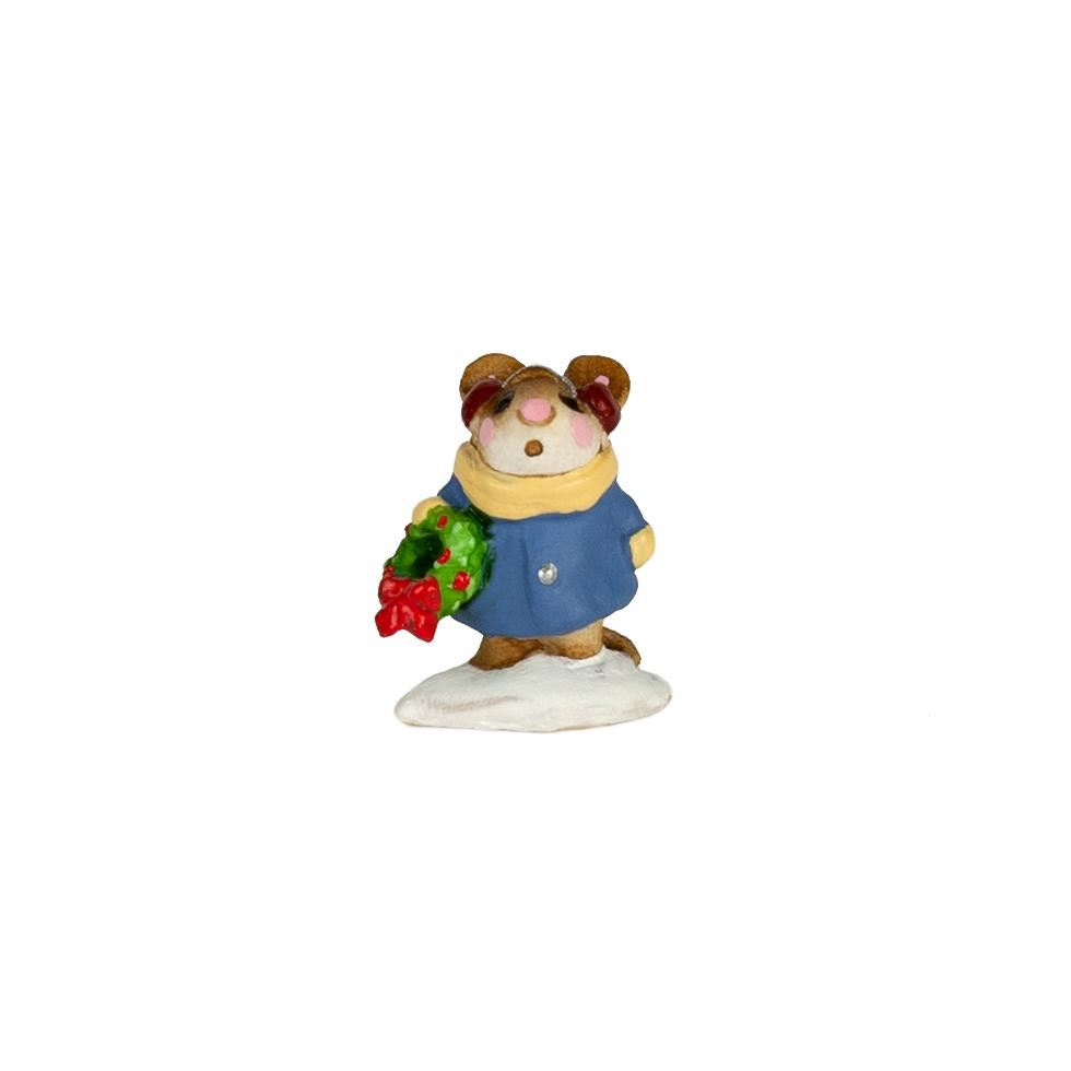 Mini Holly Mouse M-087m By Wee Forest Folk®