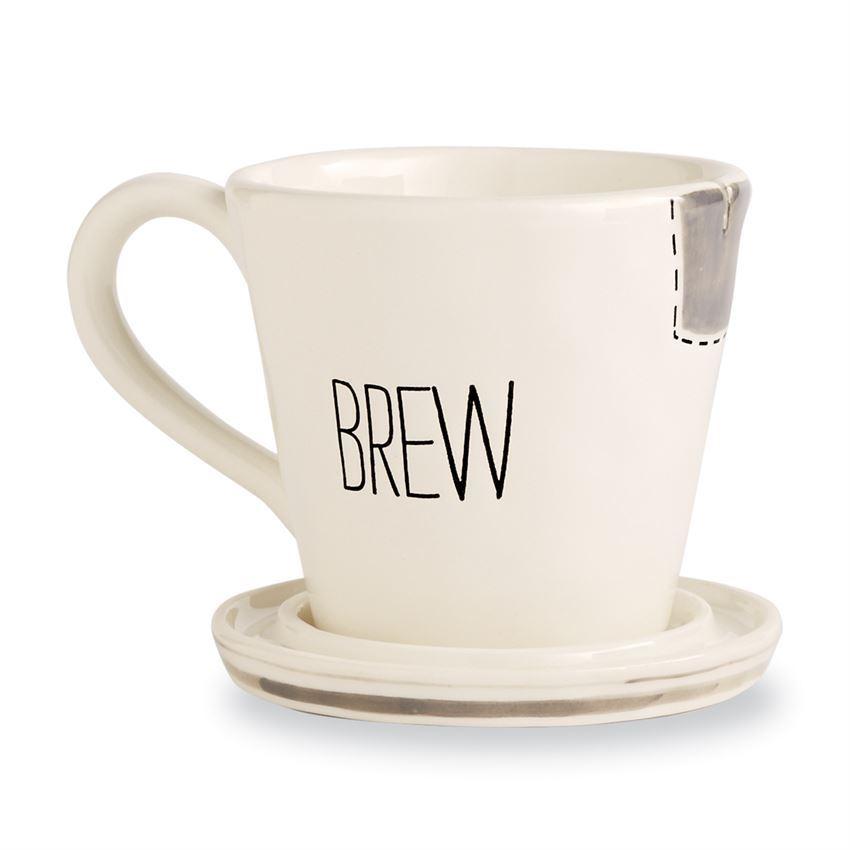 Bistro Tea Mugs by Mudpie