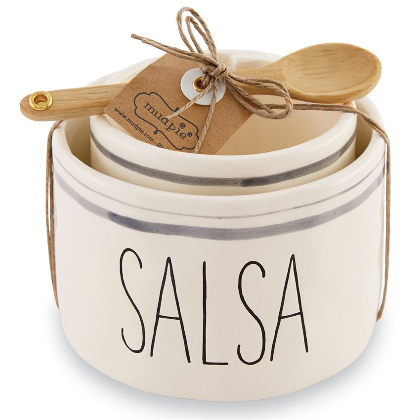 Salsa and Guac Nested Bowl Set by Mudpie