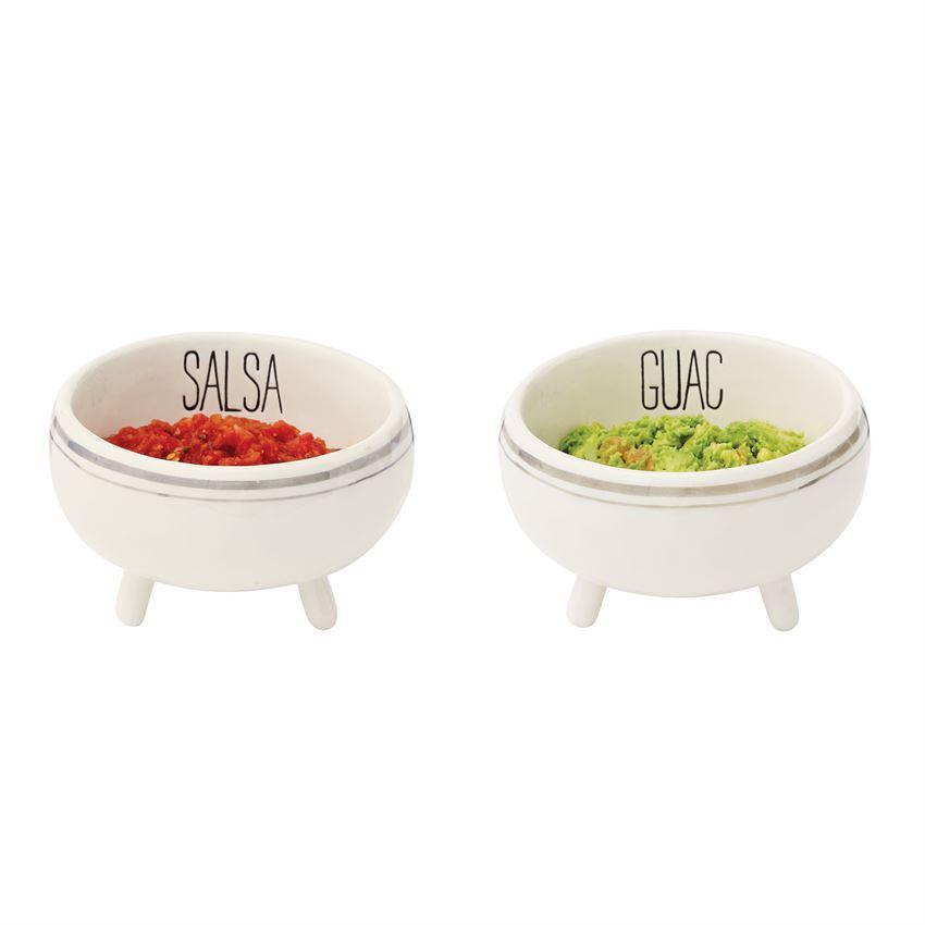 Bistro Salsa & Guac Bowls (Assorted) by Mudpie
