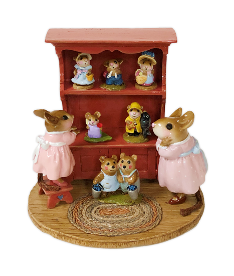 Annette's Birthday Curio Cabinet #01 M-674 By Wee Forest Folk®