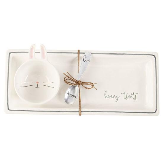Bunny Treats Tray Set by Mudpie
