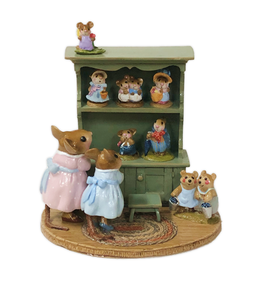 Annette's Birthday Curio Cabinet #02 M-674 By Wee Forest Folk®