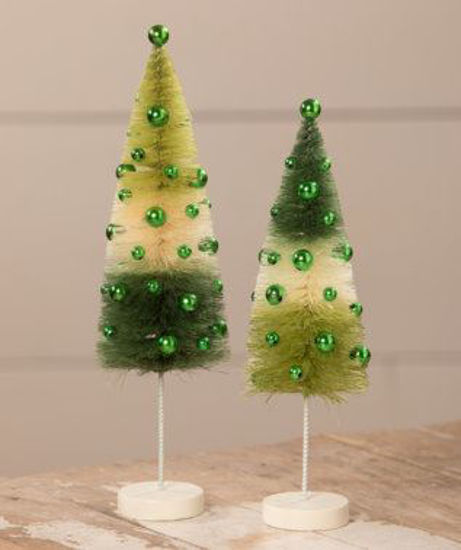 Green Tricolored Trees by Bethany Lowe Designs