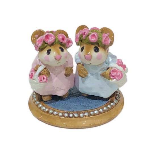 The Flower Girls (Pink & Blue) C-04 by Wee Forest Folk®