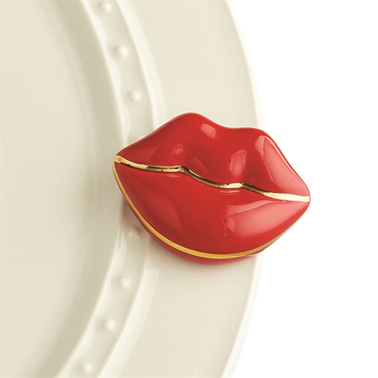 Smooches! (Lips) Mini by Nora Fleming