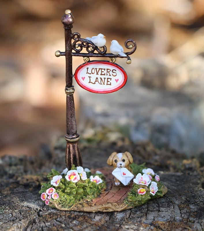 Lovers Lane Sign Post A-49d by Wee Forest Folk®
