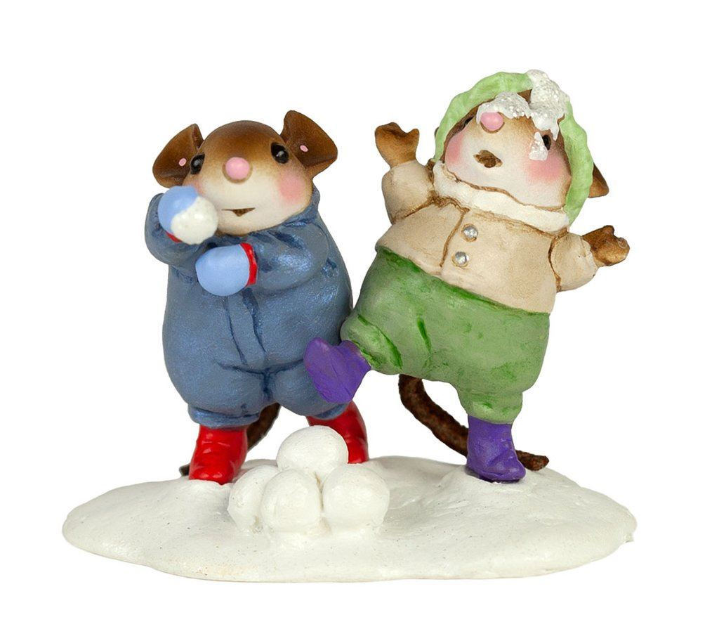 Winter Snowball Fight Collection by Wee Forest Folk® - Set of 4