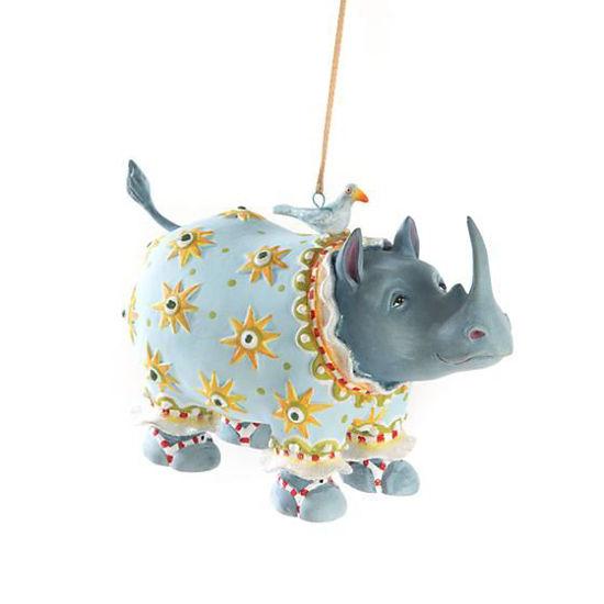 Roberta Rhino Ornament by Patience Brewster