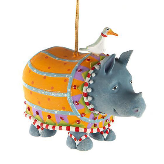Ralph Rhino Ornament by Patience Brewster