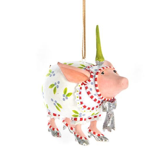 Noah's Ark Nanette Pig Mini Ornament by Patience Brewster
