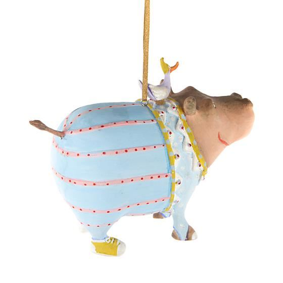 Hugo Hippo Ornament by Patience Brewster
