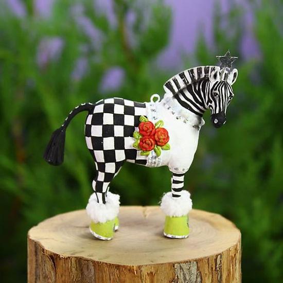 Zelda Zebra Mini Ornament by Patience Brewster