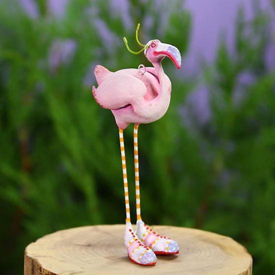 Sheila Flamingo Mini Ornament by Patience Brewster