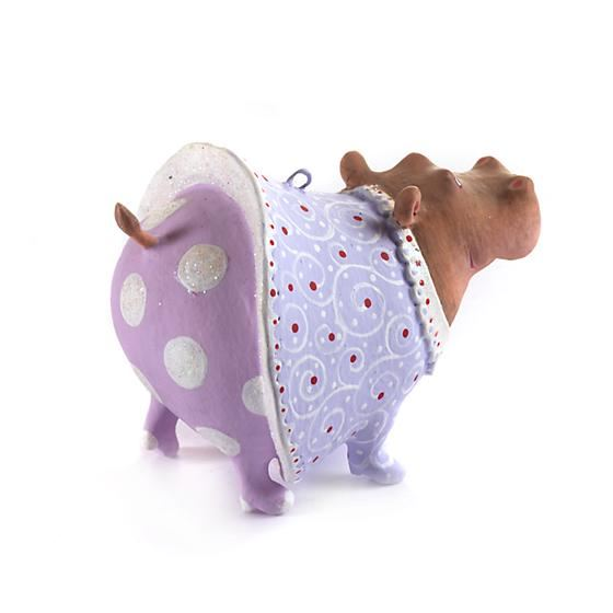 Helen Hippo Mini Ornament by Patience Brewster