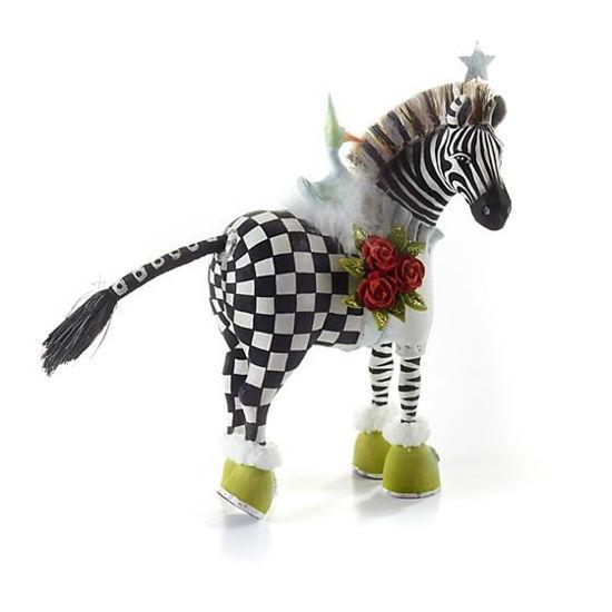 Zelda Zebra Ornament by Patience Brewster