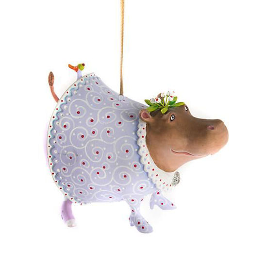 Helen Hippo Ornament by Patience Brewster