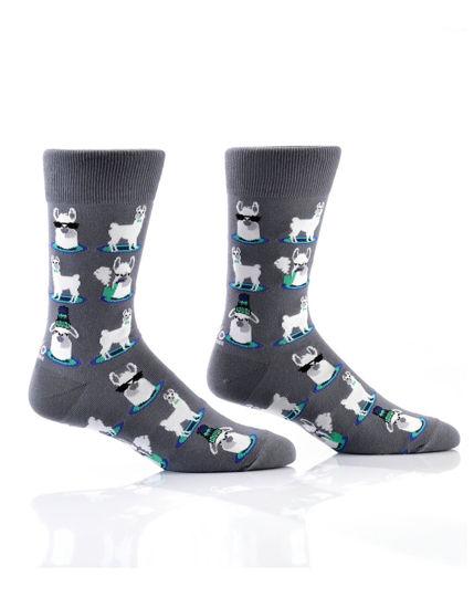 Cool Llamas Men's Crew Socks by Yo Sox