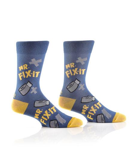 Mr Fix It Men's Crew Socks by Yo Sox