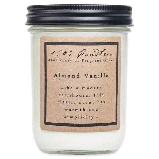 Almond Vanilla Jar by 1803 Candles