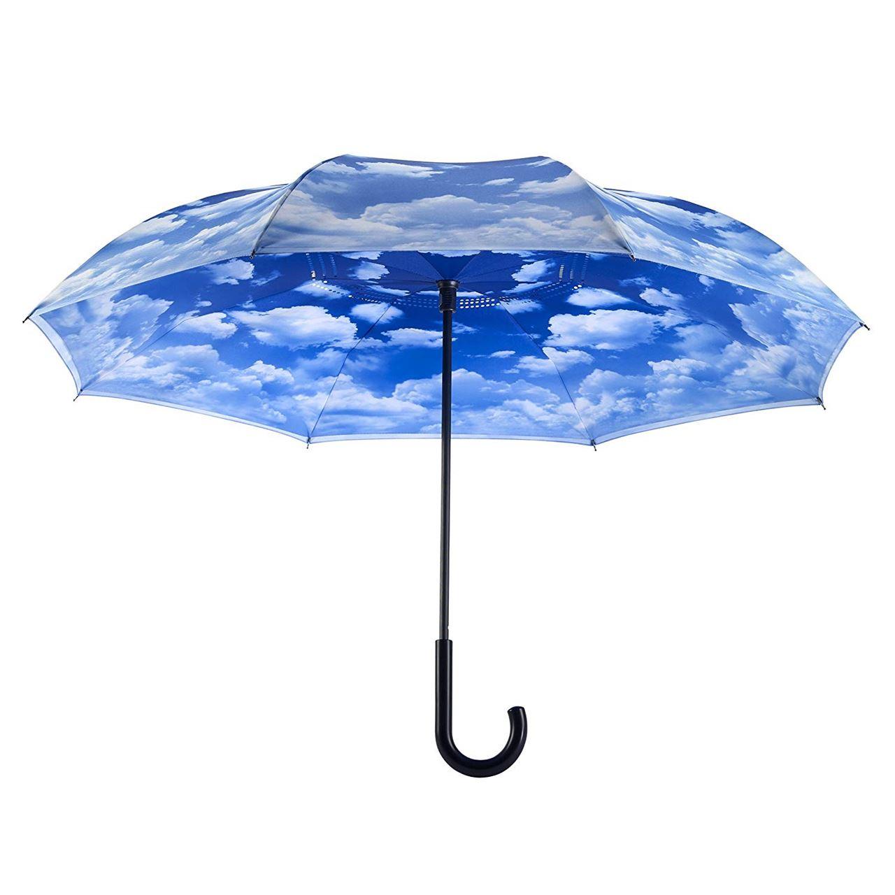 Clouds Stick Umbrella Reverse Close by Galleria