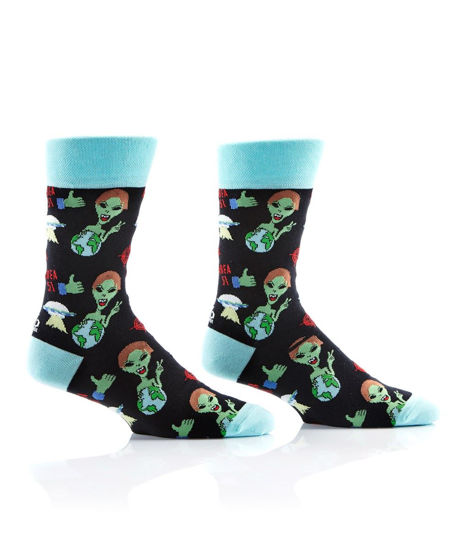 World Peace Men's Crew Socks by Yo Sox