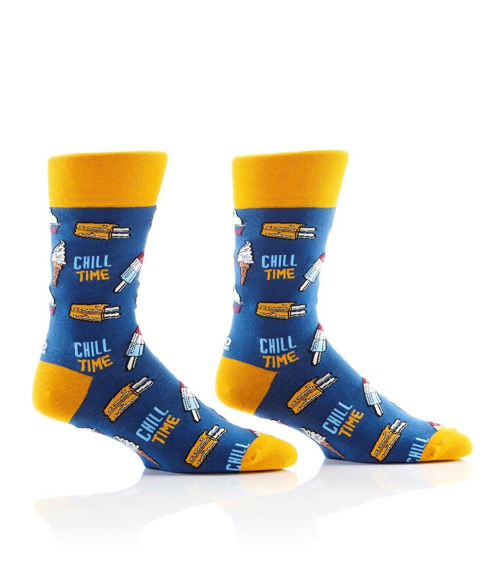 Chill Time Men's Crew Socks by Yo Sox