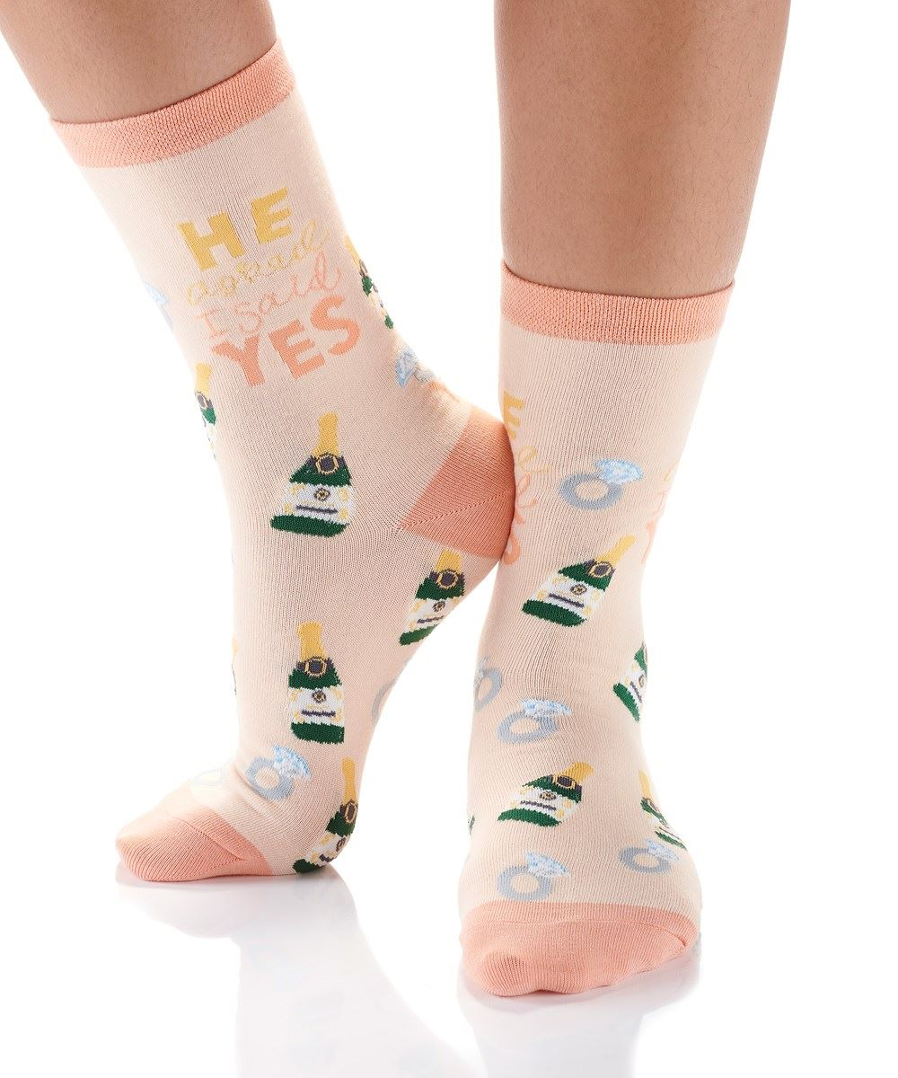 Engagement Women's Crew Socks by Yo Sox