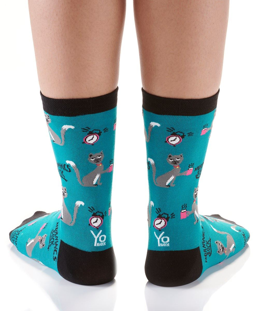 Before Coffee Women's Crew Socks by Yo Sox