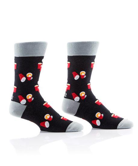 That Pong Life Men's Crew Socks by Yo Sox