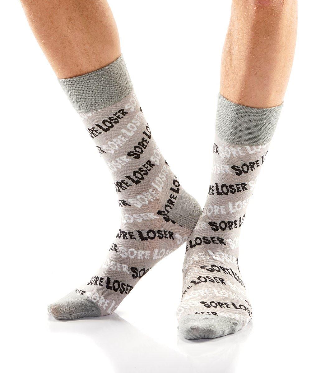 Sore Loser Men's Crew Socks by Yo Sox