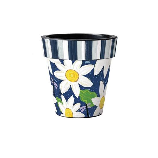 "Daisy Garden Blues 12"" Art Pot by Studio M"