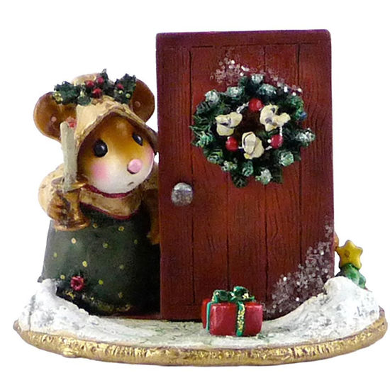 Oh My, A Christmas Gift! M-405 Red Door by Wee Forest Folk®
