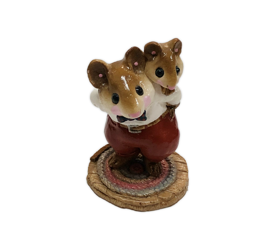 Piggy-Back Mousey M-129 by Wee Forest Folk