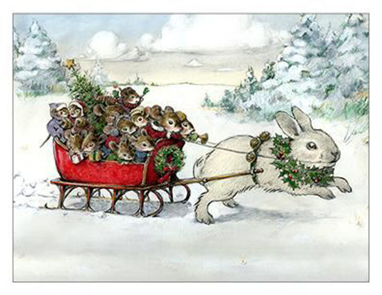 Bunny Sleigh Note Card by Wee Forest Folk®