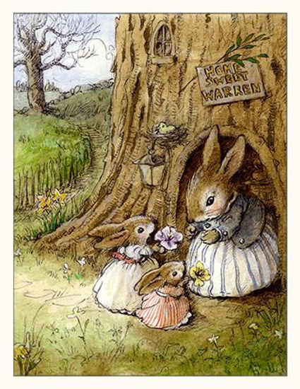 Home Sweet Bunnies Note Card by Wee Forest Folk®