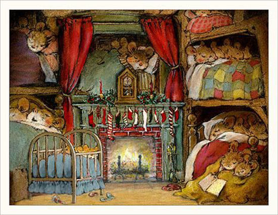 Not a Creature was Stirring…  Note Card by Wee Forest Folk®