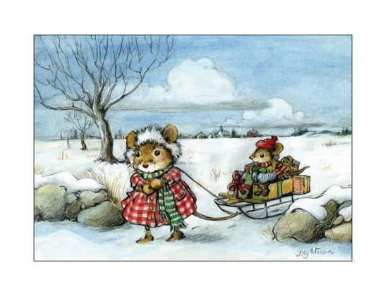 Mouse Pulling Sled by Wee Forest Folk®