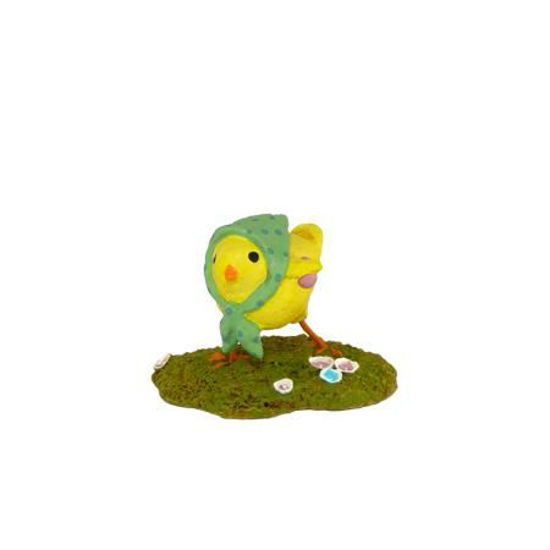 Little Chick with Kerchief A-02 Green by Wee Forest Folk®