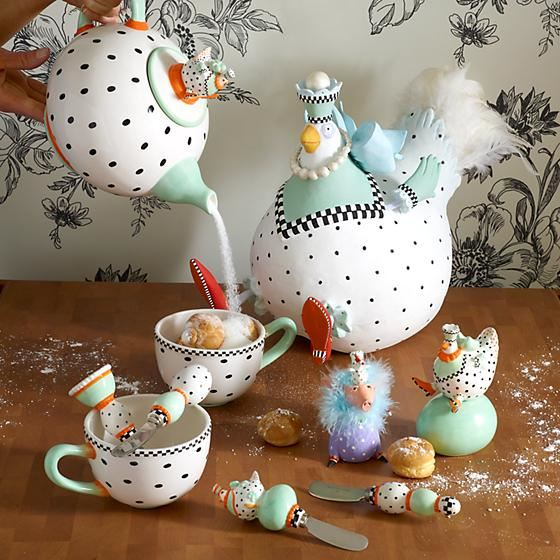 Speckled Chicken Salt & Pepper Shakers by Patience Brewster