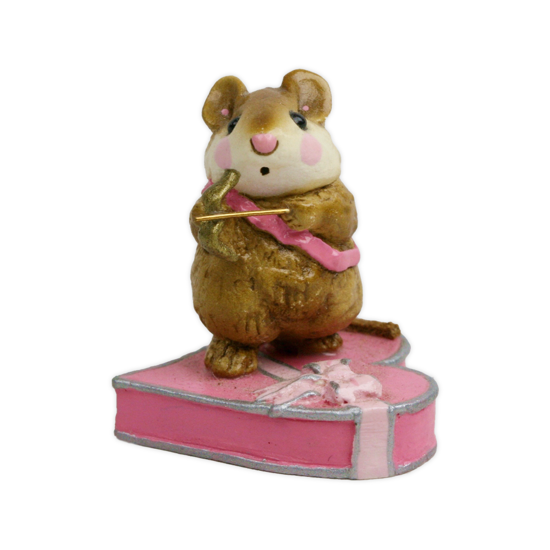 Cupid Mouse M-094 Pink by Wee Forest Folk